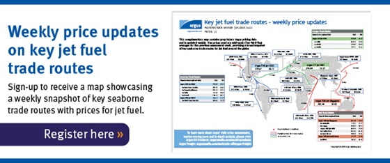 Jet fuel trade routes