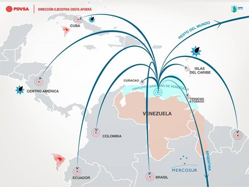 PDVSA export map