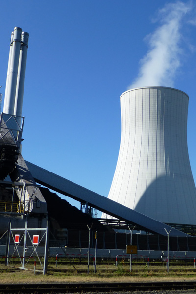 Coal power plant cooling tower