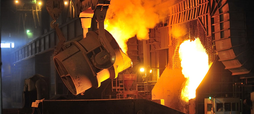 Iron ore steel smelting
