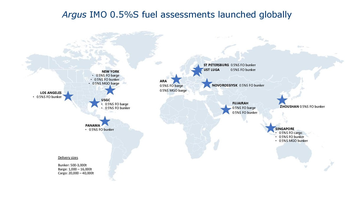Argus IMO fuel assessment map
